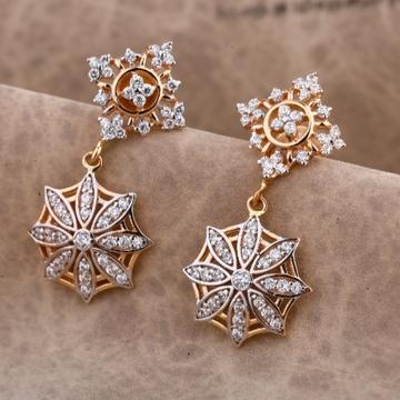 18 carat rose gold classical ladies earrings RH-LE...