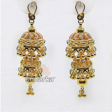 Drop Dome Jumar Gold Earring SK - E003