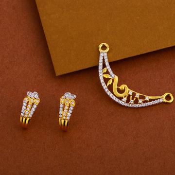 916 Gold Stylish Mangalsutra Pendant MP239