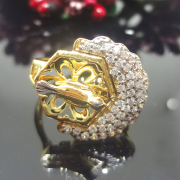 916 Gold Cz Diamond Bird Ladies Ring