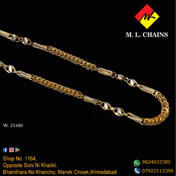 22KT Gold Indo Italian Chain ML-C10