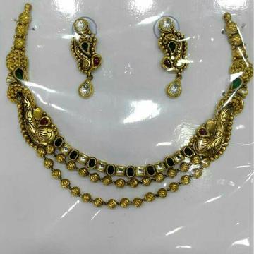 916 Gold Ladies Jadtar Antique Attractive Necklace Set