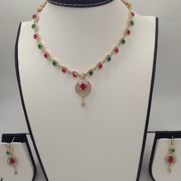 Multicolour CZ Stones Necklace Set  JNC0050