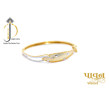 18KT Yellow Gold cZ Single Fancy Bracelet for Ladi... by