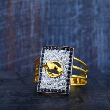 Mens Cz Jaguar 916 Gold Designer Ring-MR61