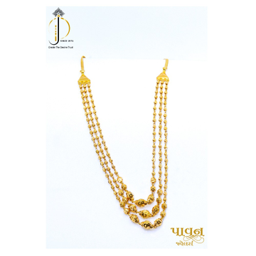 22KT / 916 Gold 3 steps Designer Vartikal Mala For Women DKG0014