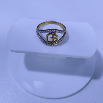 22KT/916 Yello Gold Amphine Om Ring For Women