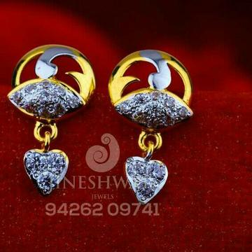 18kt Fancy Cz Rodium Gold Beby Tops ATG -0490