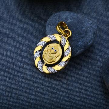 God Ganesha Gold 916 Pendant-GP46