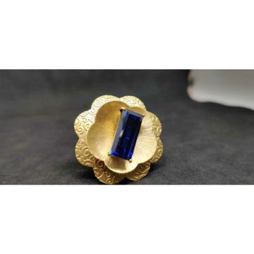 18K Flower Desginer Ladies Gold Ring Lr-24027