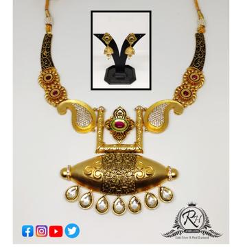 22 carat gold antique ladies necklace set RH-LS507