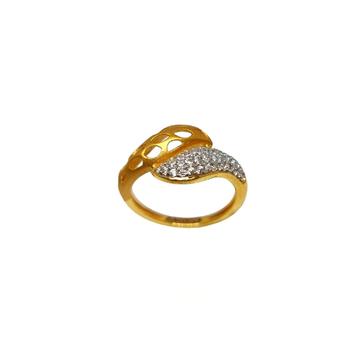 22K Gold Matte Finish Modern Ring MGA - LRG1174
