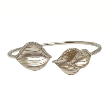 925 Sterling Silver Matte Finish Bracelet MGA - BRS1734