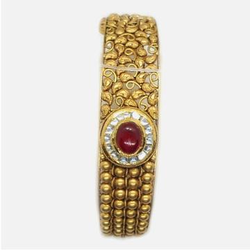 22KT Gold Antique Wedding Kada Bangle RHJ-4983