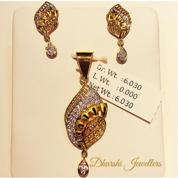 22k gold chain pendant set