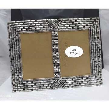 Pure silver photo frame in antique nakashii po-171... by Puran Ornaments