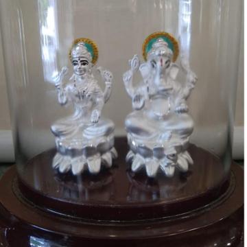 925 Silver Hallmark Gnaesh ji & Laxmi Ji Murti  by