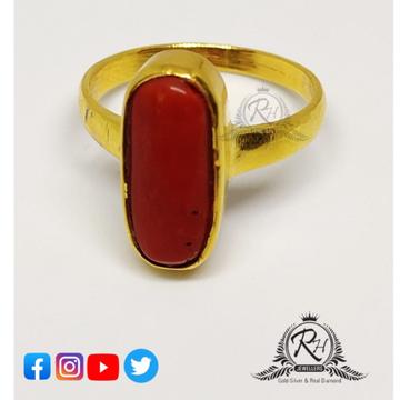 22 carat gold real mangal ston gents rings RH-GR127
