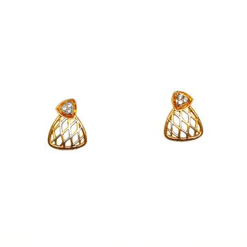 22K Gold Modern Matte Finish Earrings MGA - BTG048...