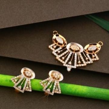18 carat rose gold diamonds ladies pendants set rH-PS465