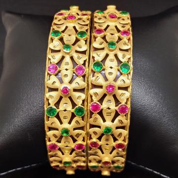 916 Gold Traditional Rajwadi Bangles