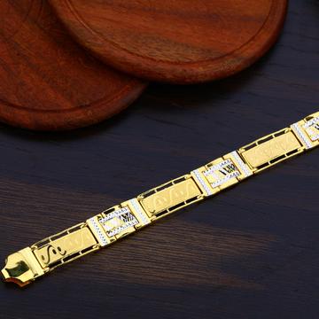 Mens Plain 22K Gold Bracelet-MPB67