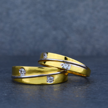 Exclusive 916 Gold Designer Couple Ring-CR20