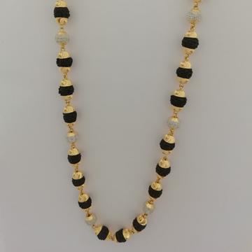 916 gold Black rudraksh moti fancy kanthi mala by Vinayak Gold