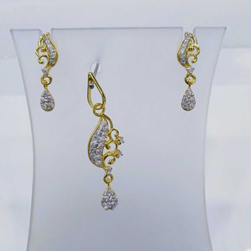 840 gold fancy light weight pendant set rj-ps005 by
