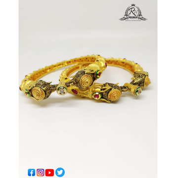 22 carat gold antique bangles RH-LB628
