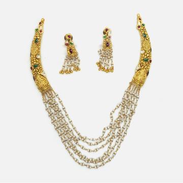 22KT Gold Antique Wedding Jewellery Set RHJ-4799