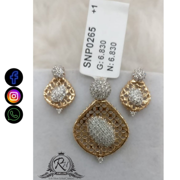 22 carat gold classical daimond earrings set RH-ER677