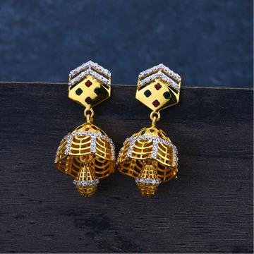 Ladies 916 Gold Jummar Antique Earrings -LJE93