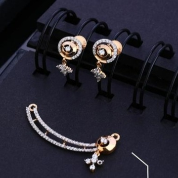 18 carat gold rose gold diamonds pendants set RH-PS451