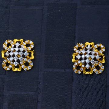 916 CZ Small Office Wear Gold earring