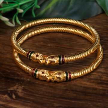 22KT Gold Designer Variya Kadli Bangle