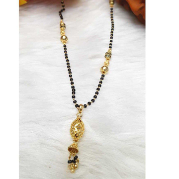 916 Gold Attractive Black Beaded Mangalsutra