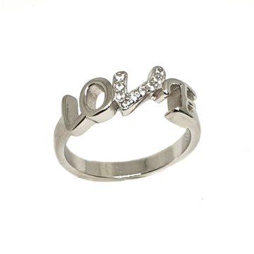 925 Sterling Silver Love Ring MGA - LRS3377