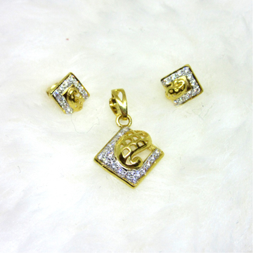 Gold 22k hm916  pendant set