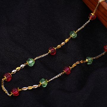 22KT Gold Ladies Delicate Antique Chain Mala AC185