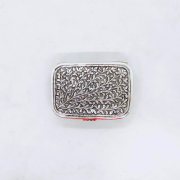 Pure Silver Box for Gifting In Antique Leafs Motif...