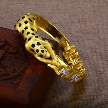Mens Gold 916 Jaguar Kada Bracelet-MKB12