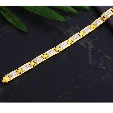 916 Gold Gentlemen's gorgeous CZ Casting Bracelet...