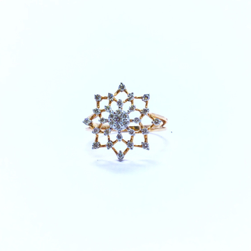 REAL DIAMOND ROSE GOLD RING by