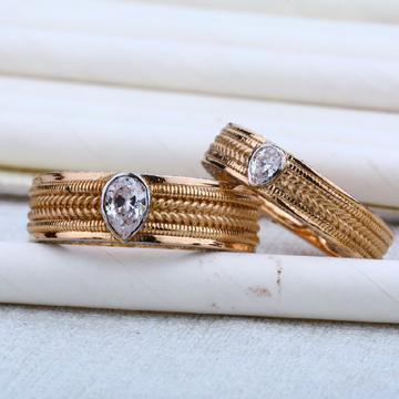 Rose Gold Engagement Gold Rose Ring-RCR06