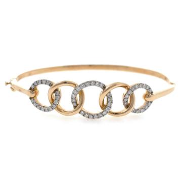 18kt / 750 rose gold fancy diamond bracelet 8brc50