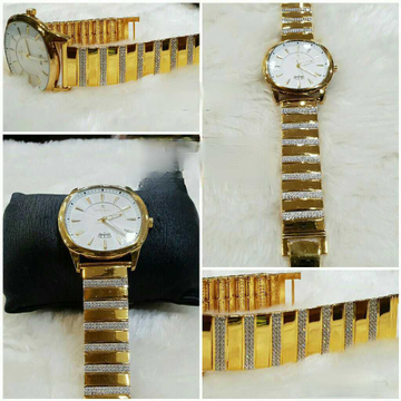 22k gents fancy gold watch g-1006