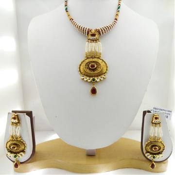 916 Gold Antique Bridal Necklace Set RHJ-3404