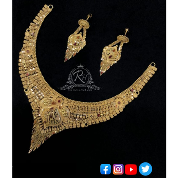 22 carat gold necklace set RH-NS260