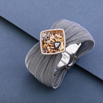 18ct Rose Gold Grey Bracelet LLKB15